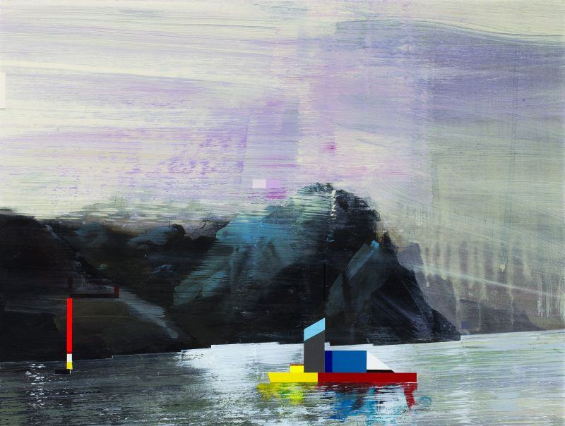 Click the image for a view of: Gunther Herbst. Resolution. 2014. Acrylic on paper. 310X410mm
