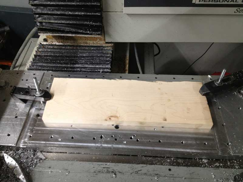 Click the image for a view of: Wood on the router