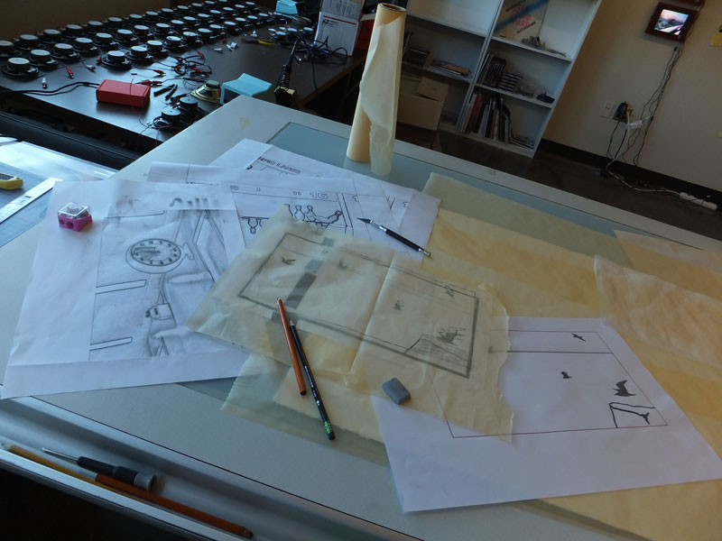 Click the image for a view of: Nathaniel's drawing table